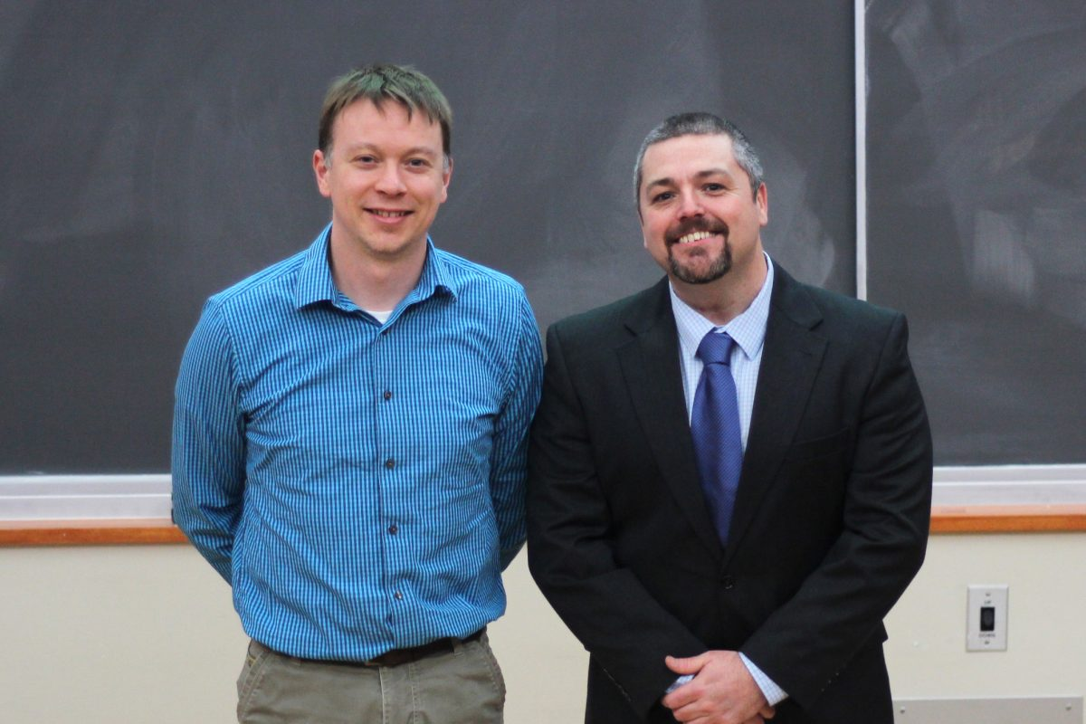 James W. Taylor Excellence in Teaching Award winners Brian Esselman and Nick Hill