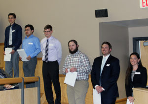 Students received awards at the ceremony in April.