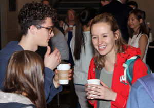 Students, faculty, staff, donors and guests attended an awards reception before the event.