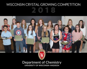 Winners of Crystal Growing Competition
