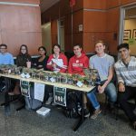 From left: Herbert Durfee IV, material science and engineering; Julie Wessel, microbiology; Yochana Kencherla, neurobiology and psychology; Brenna Bomkamp, neurobiology; Drew Coe, mathematics; Mike Keuhne, chemistry; and Eddie Estevez, computer engineering and computer science.