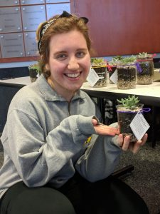Christiana Kmecheck organized the Succulents for Science event.