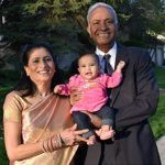 K.V. & Sara Reddy with their granddaughter